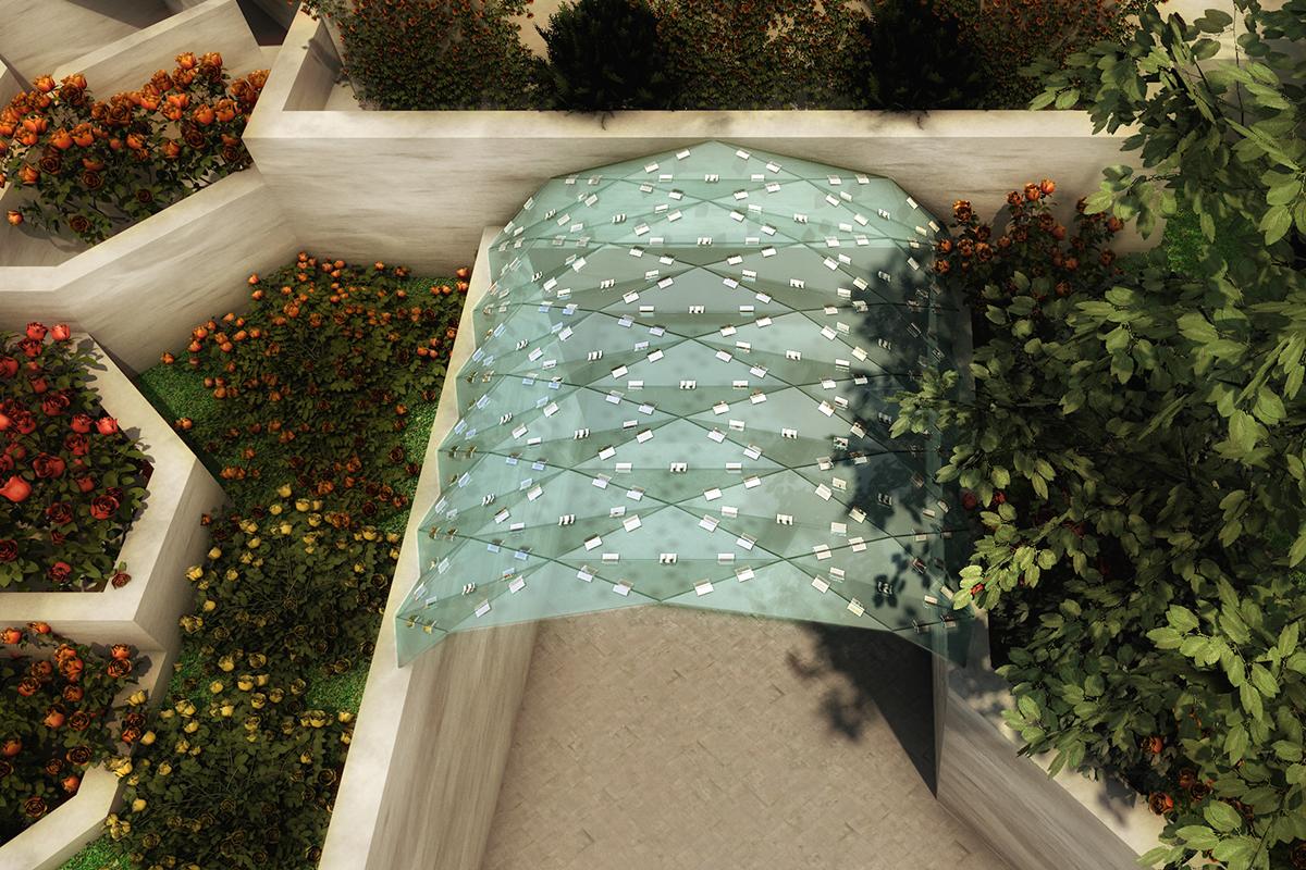 پوشش رمپ شیشه ای 1